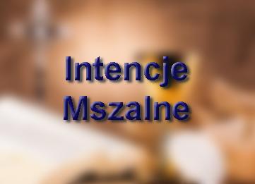 Intencje Mszalne 26.10 – 01.11.2020 r.