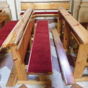Ocieplane poduszki na ławki